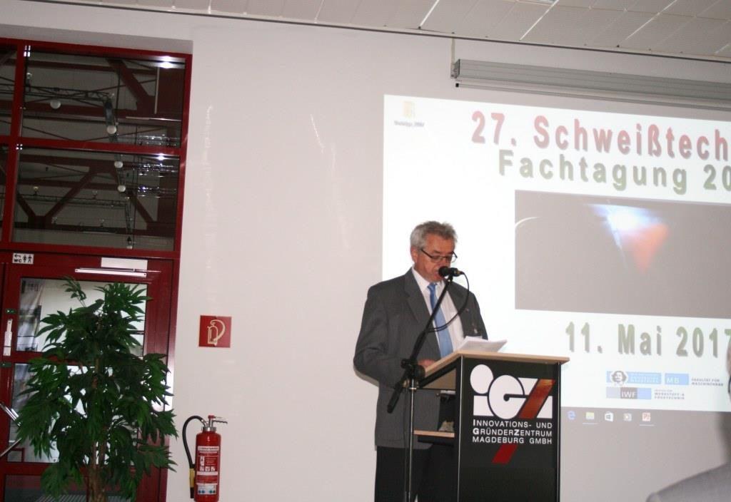 27. Schweißtechnische Fachtagung - 11.05.2017 - Eröffnung durch Herrn Berndt