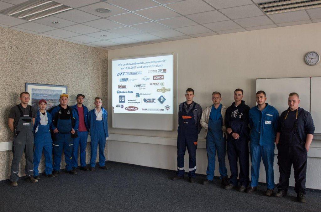 """Teilnehmer Landeswettbewerb """"Jugend schweißt"""" Sachsen-Anhalt"""