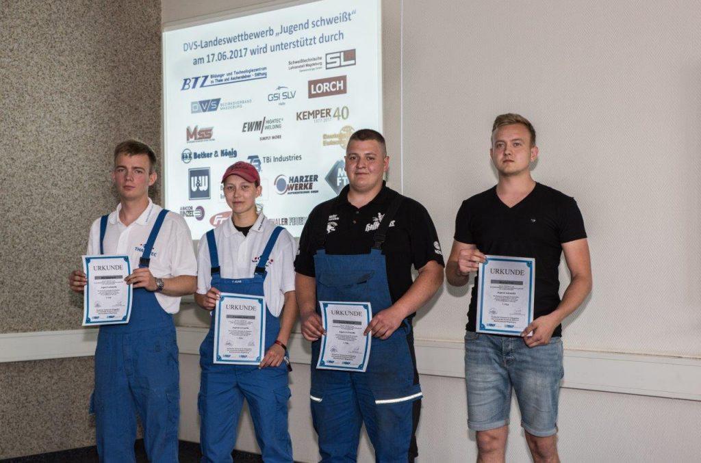 """Gewinner Landeswettbewerb """"Jugend schweißt"""" Sachsen-Anhalt"""